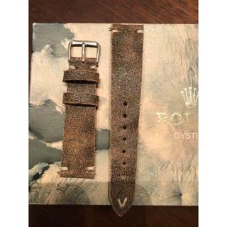 ビンテージ Vintage 20mm 革 ベルト Italy製 新品