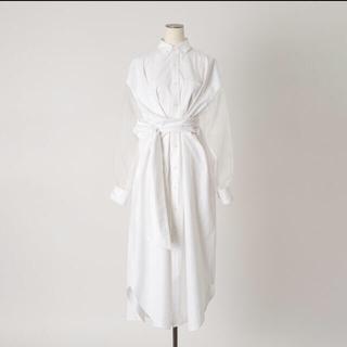 HYKE - 20SS HYKE OXFORD SHIRT DRESS 白 ビオトープ別注