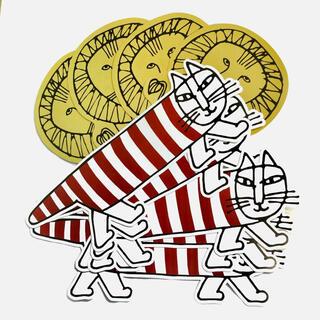 リサラーソン(Lisa Larson)のリサ•ラーソン展 ネコ ライオン カード 飾り(置物)