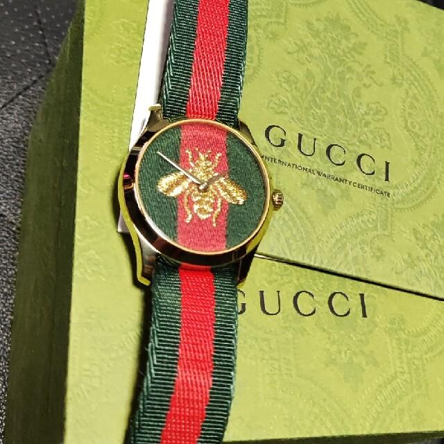 Gucci(グッチ)のグッチ タイムレス 腕時計 ゴールド ビー GUCCI 蜂 ベルト メンズの時計(腕時計(アナログ))の商品写真