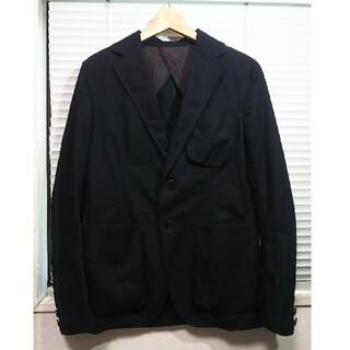 アダムエロぺ(Adam et Rope')のアダムエロペ 綿+リネン 麻 テーラードジャケット 40 M程度 黒色 ビジカジ(テーラードジャケット)