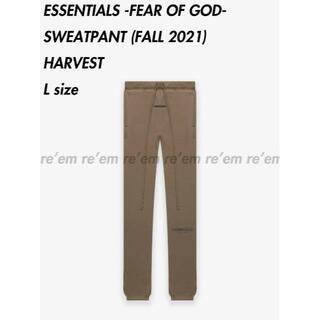 FEAR OF GOD - ESSENTIALS 21FALL SWEATPANTS HARVEST L