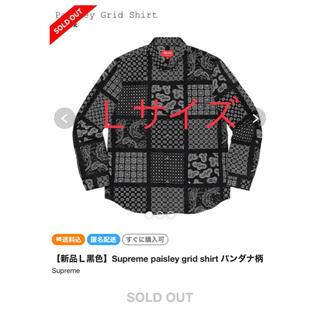 Supreme - シュプリーム ペイズリー シャツ バンダナ柄 黒 L supreme Shirt