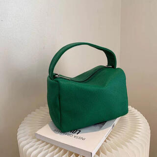 フリークスストア(FREAK'S STORE)の新品 グリーン 2way スクエア ボックス バッグ(ショルダーバッグ)
