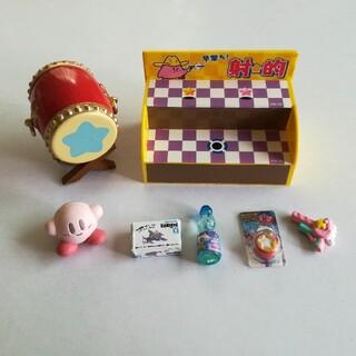 ニンテンドウ(任天堂)のカービー ミニフィギュア お祭り 太鼓 射的(ゲームキャラクター)