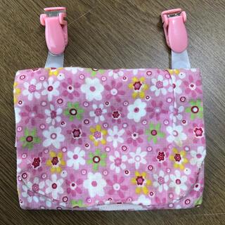 移動ポケット ピンク花柄 ハンドメイド 女の子(外出用品)