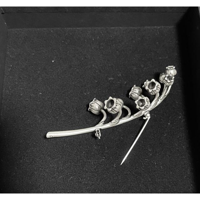 DIOR HOMME(ディオールオム)のDior homme 18ss silver925 鈴蘭ブローチ ディオールオム メンズのアクセサリー(その他)の商品写真