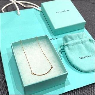 Tiffany & Co. - ティファニー T スマイル ネックレス スモール ローズゴールド