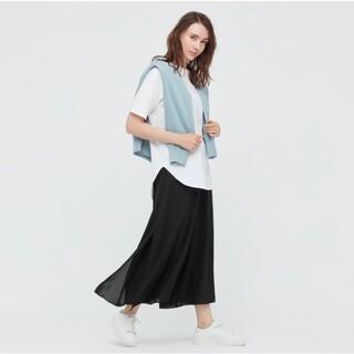 ユニクロ(UNIQLO)の美品 UNIQLO シフォンスリットスカートパンツSサイズ(キュロット)