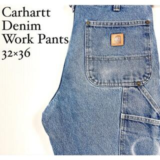carhartt - カーハートブルージーンズワークパンツ32インチサイズM古着アメリカ労働者秋冬男女