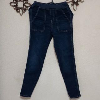 GU - お買い得!秋冬物!GU 150男の子 ゆったり 紺 のびのびジーンズ ゆったり