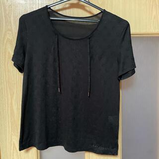 レオナール(LEONARD)のレオナールスポーツ トップス 半袖 ブラック 40サイズ(カットソー(半袖/袖なし))