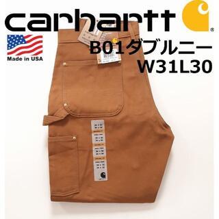 カーハート(carhartt)のUSA製 カーハート Carhartt B01 W31L30 ダブルニー BRN(ペインターパンツ)