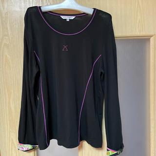レオナール(LEONARD)のレオナールスポーツ トップス 長袖 ブラック 40サイズ(カットソー(長袖/七分))