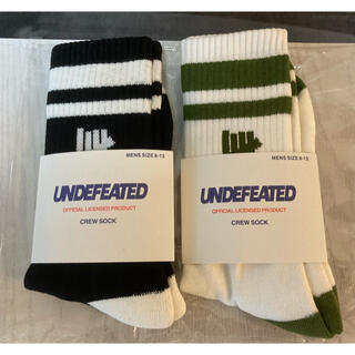 UNDEFEATED - undefeated 靴下 アンディフィーテッド 25〜29cm 2足