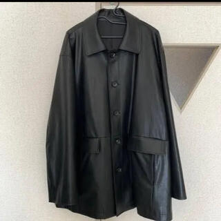 コモリ(COMOLI)のstein Fake Leather Car Jacket(レザージャケット)