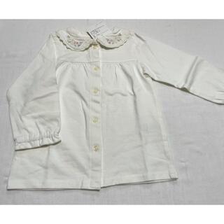 ビケットクラブ(Biquette Club)の新品 ビケット ブラウス 長袖 お花刺繍 95(Tシャツ/カットソー)