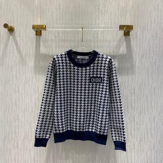 ディオール(Dior)の【Dior】千鳥格子柄 ウールセーター (ニット/セーター)
