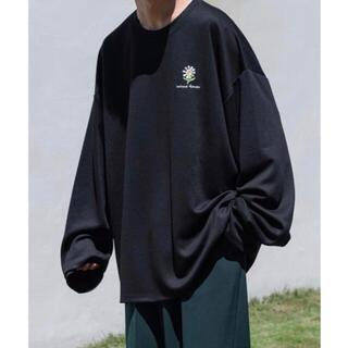 HARE - フラワー刺繍ビッグロンT ブラック Mサイズ 値下げ🙆🏻♂️