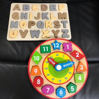3COINS - スリーコインズ パズル 知育玩具 時計 おもちゃ まとめ売り アルファベット