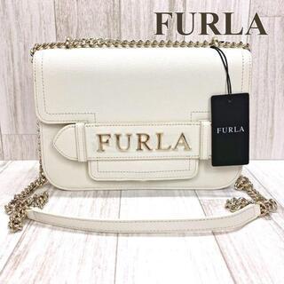 Furla - フルラ ダブルチェーンショルダーバッグ ホワイト