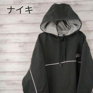 NIKE - 98 NIKE ナイキ パーカー 刺繍ロゴ ブラック 古着