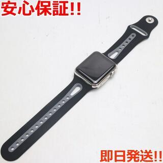 アップル(Apple)の超美品 Apple Watch 38mm ステンレス ブラック (その他)