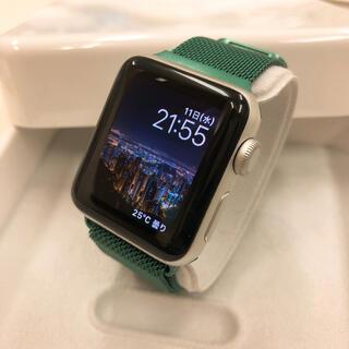 アップルウォッチ(Apple Watch)のapple watch 38mm シルバー series2 アップルウォッチ(腕時計(デジタル))
