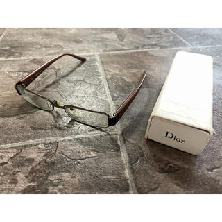ディオール(Dior)のレディース ディオール 眼鏡 度入りレンズ付き(サングラス/メガネ)