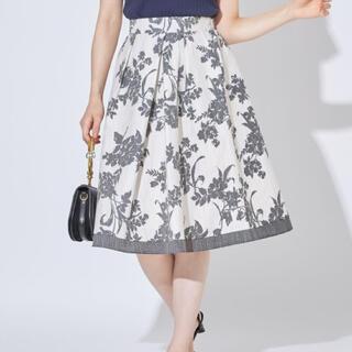 トッコ(tocco)のトッコクローゼット❤️大人可愛い花柄フレアスカート(ひざ丈スカート)