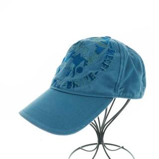 ディーゼル(DIESEL)のディーゼル インダストリー キャップ 帽子 野球帽 ロゴ 刺繍 F 水色(キャップ)