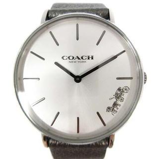 コーチ(COACH)のコーチ ペリー 腕時計 クォーツ レザー シルバー色 14503155(腕時計)