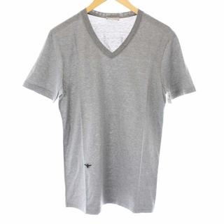 ディオールオム(DIOR HOMME)のディオールオム Tシャツ カットソー Vネック 半袖 BEE刺繍 XS グレー(Tシャツ/カットソー(半袖/袖なし))
