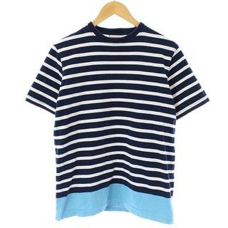 ソフネット(SOPHNET.)のソフネット 17SS Tシャツ カットソー 半袖 ボーダー S 青 白(Tシャツ/カットソー(半袖/袖なし))