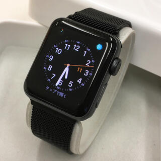 アップルウォッチ(Apple Watch)のApple Watch series2 グレー 38mm アップルウォッチ(腕時計(デジタル))