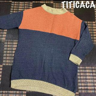 チチカカ(titicaca)の大きいサイズ TITICACA チチカカ トレーナー 異素材チュニック(チュニック)