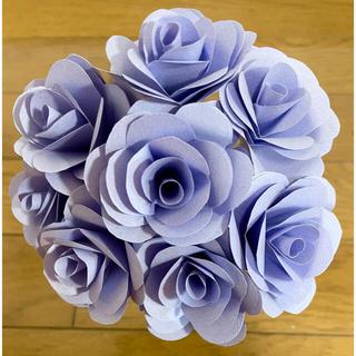 折り紙で作ったバラ 藤紫 むらさき 8本セット(その他)