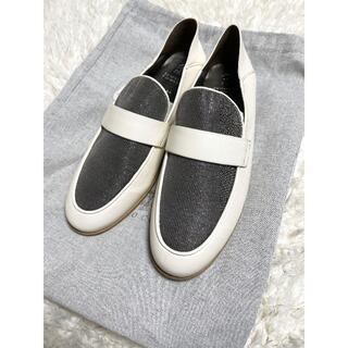 ブルネロクチネリ(BRUNELLO CUCINELLI)のブルネロクチネリ モニーレ レザー ローファー シューズ 37.5(ローファー/革靴)