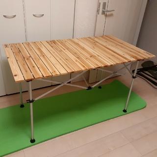 Coleman - コールマン 120サイズ ナチュラルウッドロールテーブル