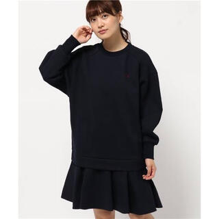 MUVEIL WORK - FRED PERRY Muveil Sweat Dressワンピース ネイビー
