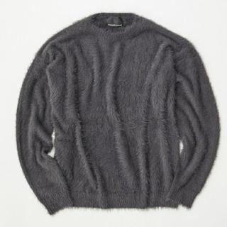 ナンバーナイン(NUMBER (N)INE)のナンバーナイン ファー フェザーヤーン ニット セーター グレー レア(ニット/セーター)