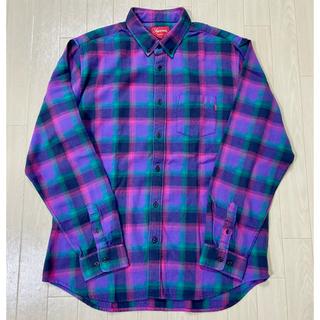 Supreme -  L Supreme Tartan Plaid Flannel shirt