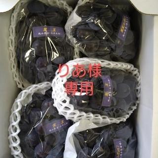 りあ様 専用 岡山県産 紫玉2k 1箱(5〜6房入)(フルーツ)