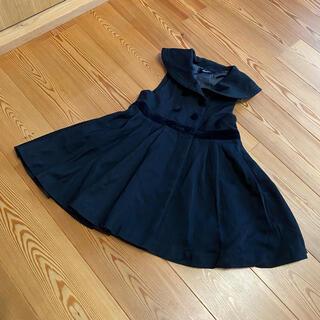 ベベ(BeBe)の110cm bebe ベベ セーラーワンピース フォーマル ブラック(ドレス/フォーマル)