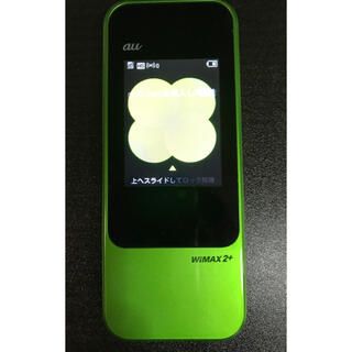 エーユー(au)の箱一式付 au WiMAX2+ speed wi-fi next w04(PC周辺機器)