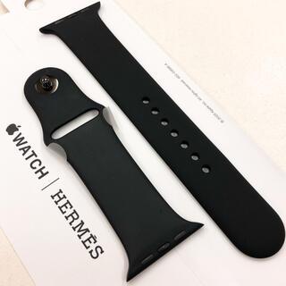 アップルウォッチ(Apple Watch)のアップルウォッチ エルメス スポーツバンド Apple Watch 44mm 黒(ラバーベルト)