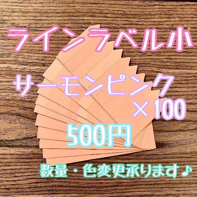 ◎ 100枚 ◎ 肌 ( 小 ) ラインラベル 園芸ラベル カラーラベル ハンドメイドのフラワー/ガーデン(プランター)の商品写真