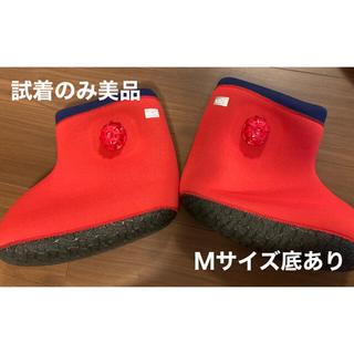 ムジルシリョウヒン(MUJI (無印良品))の美品 クロッツ 履く湯たんぽ やわらか湯たんぽ  赤(その他)