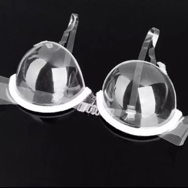 コスプレ 透明ブラジャー【送料無料】 エンタメ/ホビーのコスプレ(コスプレ用インナー)の商品写真