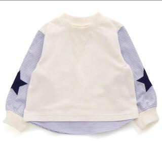 プティマイン(petit main)のアプレレクール スターアップリケTシャツ 90(Tシャツ/カットソー)